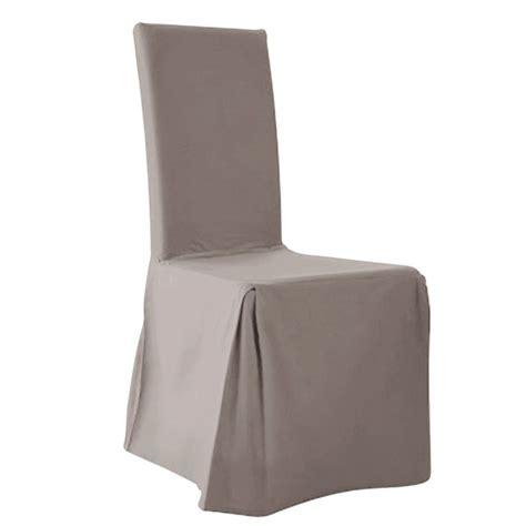 housse de chaise hauteur dossier 60 cm housses de chaise lot de 2 scenario la redoute