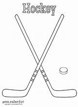Hockey Coloring Sticks Puck Birthday Ice Sheets Crafts Printcolorfun Nhl Fun Mom Wild Stick Printable Cakes Cards Coloriage Parties Drawing sketch template