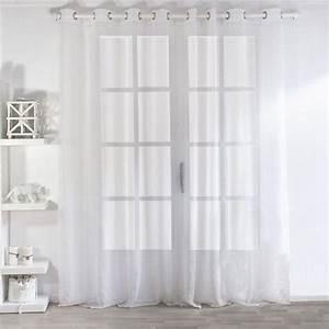 Voilage A Oeillet : rideau et voilage rideaux rideaux occultant voilage eminza ~ Teatrodelosmanantiales.com Idées de Décoration