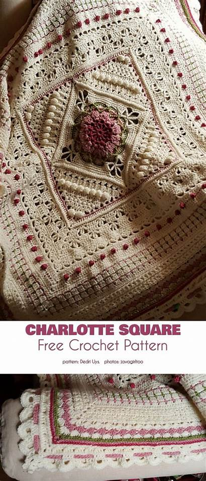 Charlotte Pattern Crochet Yourcrochet Squares Thread Cotton