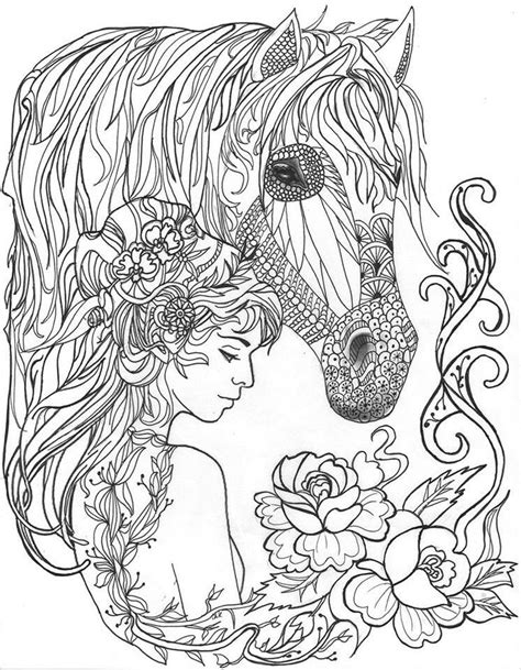 375 best Horses images on Pinterest   Colouring pages