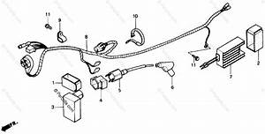 Honda Atv 1986 Oem Parts Diagram For Wire Harness
