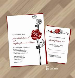 10 best images about red and black wedding on pinterest With wedding invitations with red roses