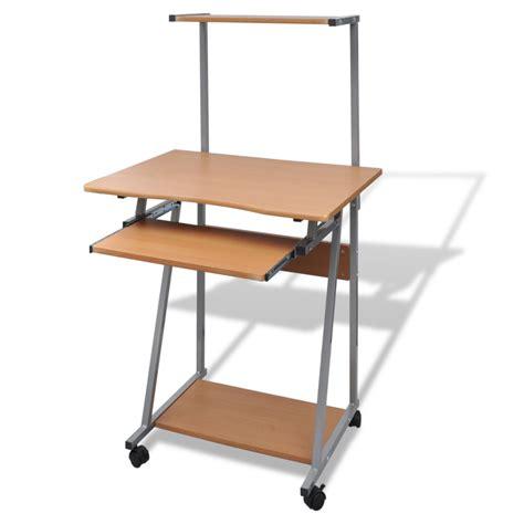 bureau des 駘钁es mesa de ordenador marrón con bandeja de teclado íble tienda vidaxl es