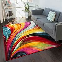 colorful area rugs Apartment Decorating Ideas - Bright and Cute DIY Apartment ...