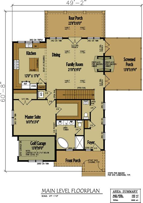 small cabin home plan  open living floor plan