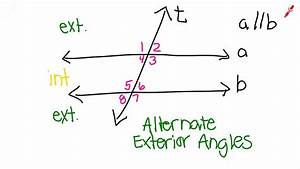 Same Side Interior Angles In Real Life. Alternate Exterior ...