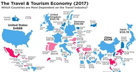 Which Countries are Most Dependent on the Travel Industry?