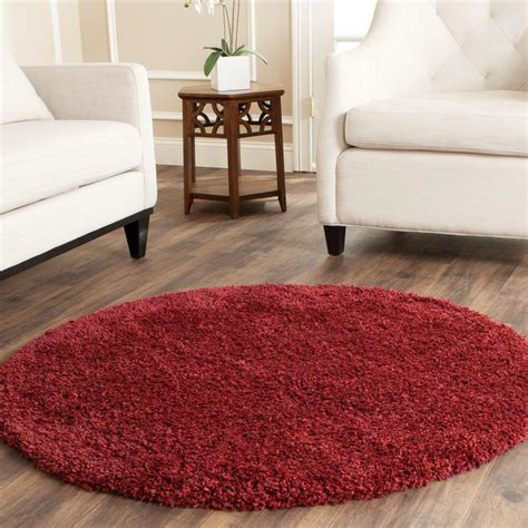 4 ft area rugs safavieh california shag maroon 4 ft x 4 ft area