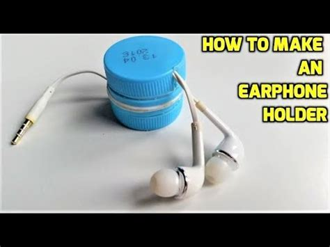 How To Make An Earphone Holder From Plastic Bottles Youtube