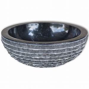 Waschbecken 40 Cm : vidaxl waschbecken marmor 40 cm schwarz g nstig kaufen ~ Indierocktalk.com Haus und Dekorationen