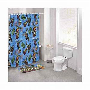 Nickelodeon teenage mutant ninja turtles 14 piece bath set for Tmnt bathroom set