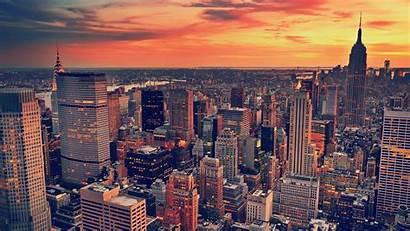 Sunset York Cityscape Building Desktop Wallpapers Landscape