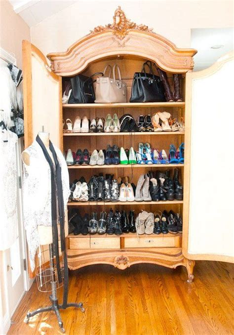 Shoe Armoire Sophisticated Storage Shoes In The Armoire