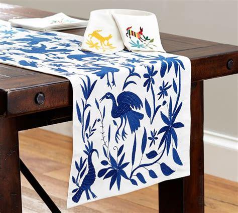 pottery barn christmas table runner embroidered table runner pottery barn