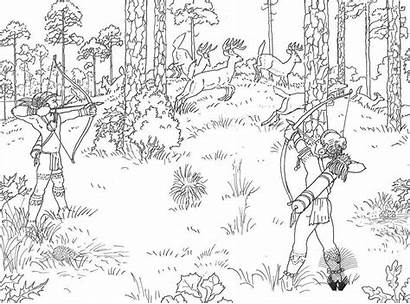 Hunting Coloring Pages Printable Deer Duck Buck