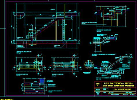 Ferro  Concrete Stair Details DWG Detail for AutoCAD