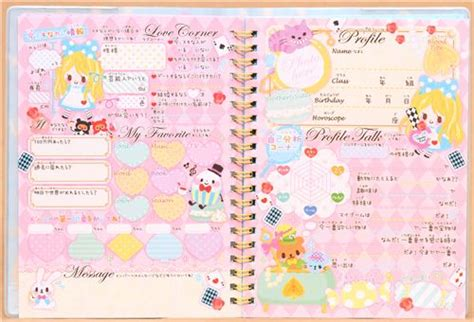 alice  wonderland fairy tale notepad  friends diary