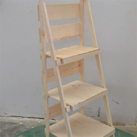 wooden display ladder retail stand rack store fixtures