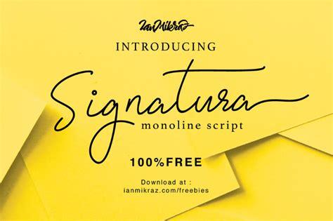 signatura monoline script font befontscom