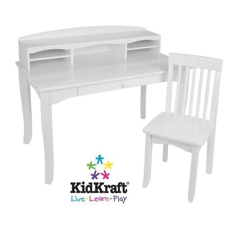 white desk and chair kidkraft avalon kids desk with hutch and chair in white