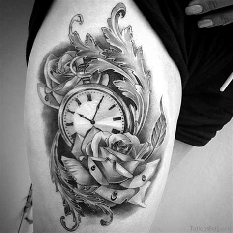 top class clock tattoos  thigh