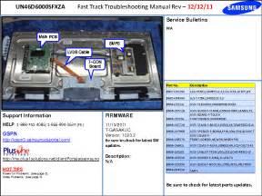 Samsung Un46d6000sfxza Fast Track Guide Service Manual