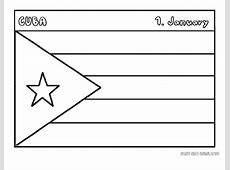 Printable flag of cuba coloring page Printable Coloring