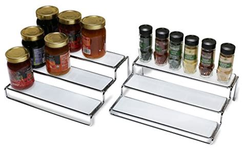 Step Spice Rack by Decobros 3 Tier Expandable Cabinet Spice Rack Step Shelf