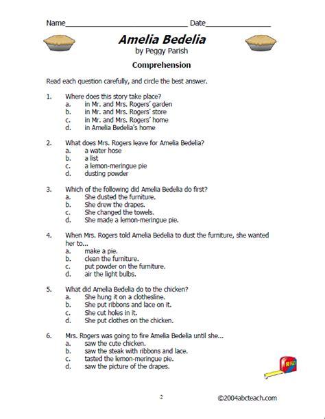 amelia bedelia worksheets free worksheets library