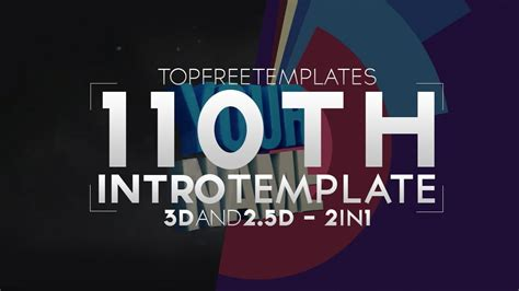 top free templates free intro template epic 2 5d 3d 2in1 110 w tutorial