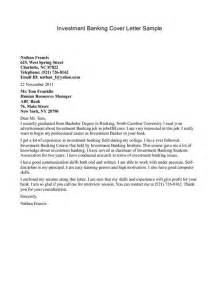 Investment Bank Cover Letter Investment Banking Cover Letter Jvwithmenow