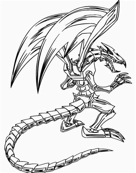 disegni da colorare di yu gi oh drago di yu gi oh disegno da colorare per bambini