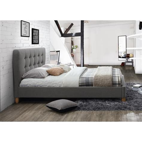 King Bed Frame Gray by Or Grey Fabric Bed King Size