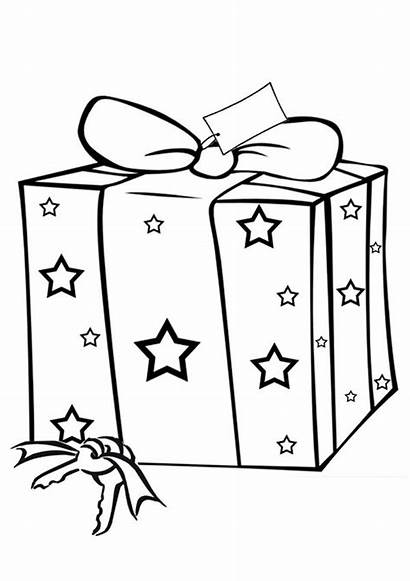 Christmas Present Coloring Pages Colouring Presents Sheets