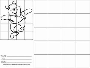 drawing with grids how to draw winnie the pooh dancinggif With grid drawings templates