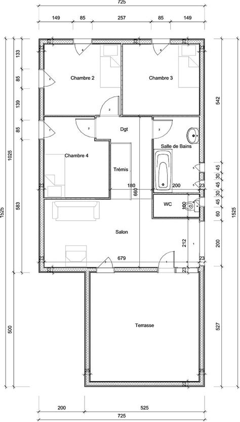maison en bois 100m2 mod 232 les de maisons 224 ossature bois bureau d 233 tude aerc