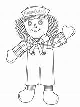 Coloring Raggedy Doll Andy Pages Rag Drawing Dolls Printable Clipart Cabbage Patch Cartoon Ann Paper Raggety Popular Categories sketch template