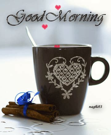 Couple love romance image with burning heart. Good Morning Coffee Gif Pictures, Photos, and Images for Facebook, Tumblr, Pinterest, and Twitter