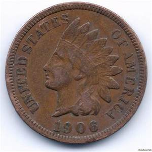 1 Cent 1906 Indian Head Penny Liberty Head EF Bold Coin