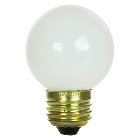 25 watt light bulb sunlite incandescent 25 watt g16 globe 150 lumens white