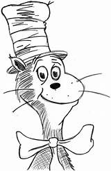 Coloring Seuss Dr Pages Printable Preschool Birthday Mouse Disimpan Dari Inspirational Mickey Hat Cat sketch template
