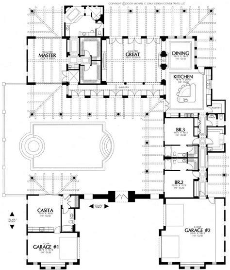 house plans  courtyards  center   hacienda