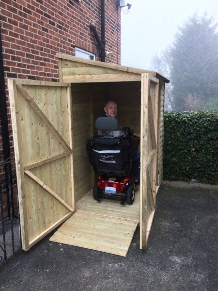 Mobility Scooter Storage Shed by Belvoir Barns Limited Mobility Scooter Storage Shed