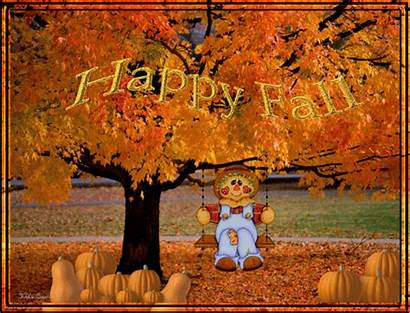 Fall Happy Autumn Quotes Animated Leaves Nature