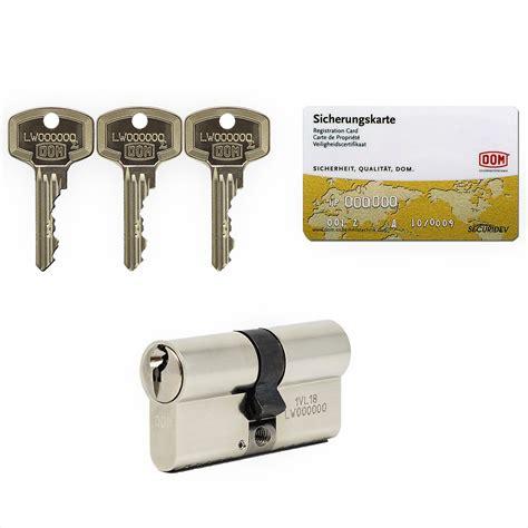 schließzylinder mit sicherheitskarte dom rs sigma schlie 223 zylinder schlie 223 anlage