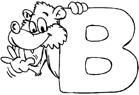 letter b coloring pages preschool and kindergarten 176 | free letter b printable colouring pages for preschool