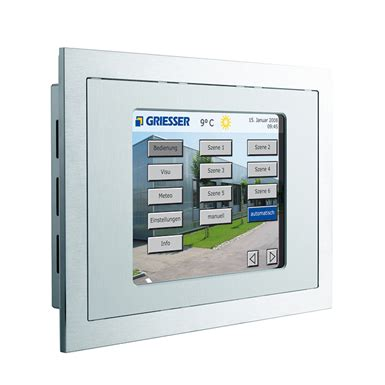 knx touch panel operating terminal griesser free bim