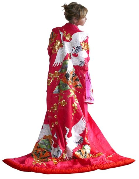 Traditional Japanese Wedding Kimono by Japanese Wedding Silk Kimono Gown 1950 S Wedding Kimonos