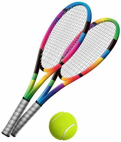 Tennis Clip Clipart Ball Transparent Rackets Badminton